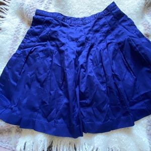 Limited Blue Chinos Pleated Cotton Skirt Size 10